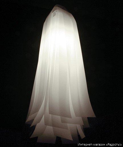 Подвесной фонарик-абажур из бумаги Водопад