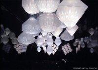Бумажные фонарики-светильники промышленного производства