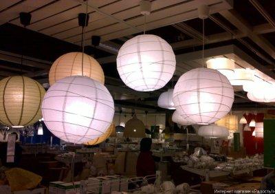 Китайские бумажные фонарики классической круглой формы