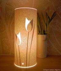 Настольный бумажный фонарик Тюльпаны