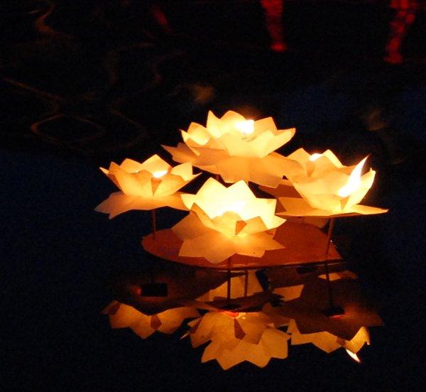 плавающие китайские фонарики