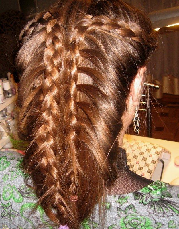 Косички - бантики - Косы плетения - Красивые волосы.  Лучшие.  Как сделать бант из волос Ladybox.ru.