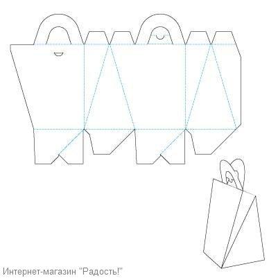 схема сумочки из бумаги для