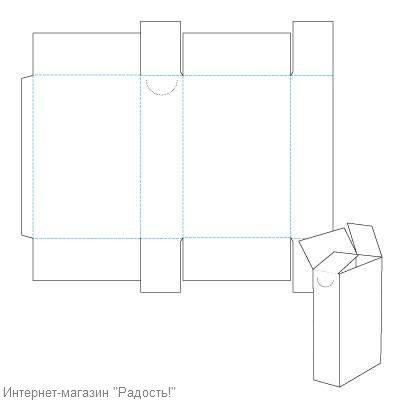 высокая коробка - схема, для создания картонной коробки для упаковки мыла ручной работы.