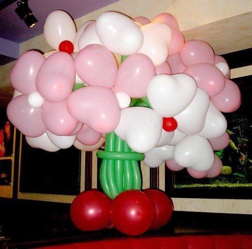 шары для моделирования: букет из сердечек