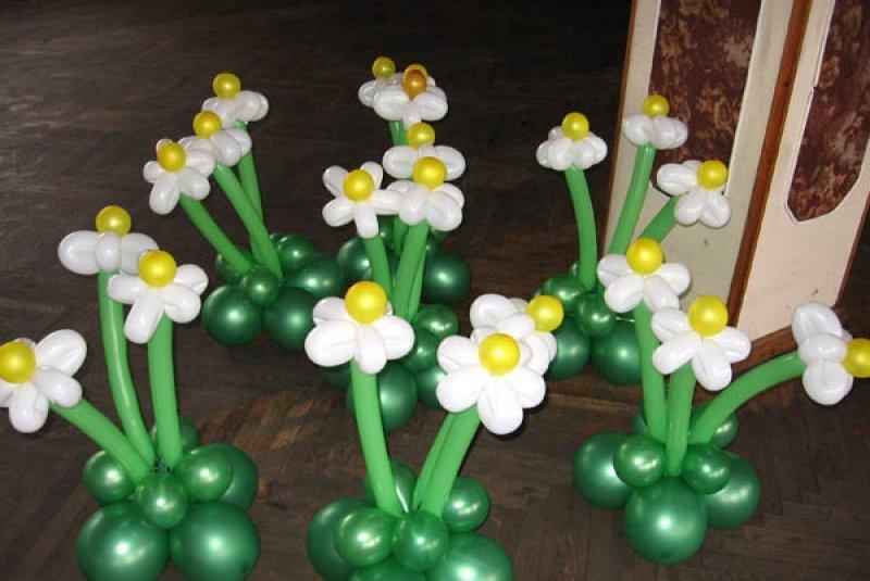 шары для моделирования: ромашковая поляна