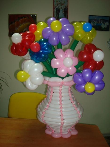 шары для моделирования: букет полевых цветов