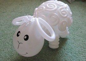 шары для моделирования: белый барашек