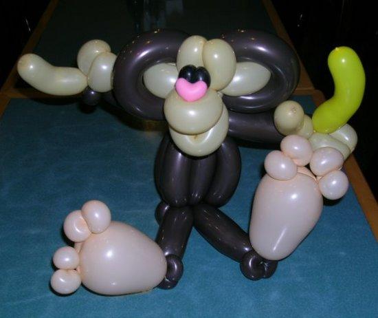 шары для моделирования: весёлая обезьянка