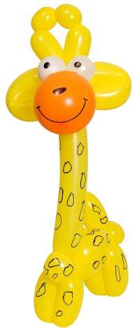 весёлая жирафа из шаров для моделирования