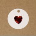 4.58: Бирки из картона с акриловым сердечком