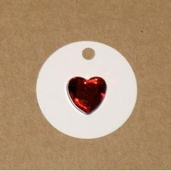 4.58: Бирки из картона с акриловым сердечком*