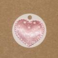 4.59: Белые бирки из картона с атласным сердечком