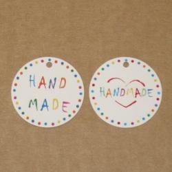 "4.26. Цветные бирки ""Handmade"""