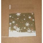 """5.234. Упаковочные пакетики для подарков """"Снежинка"""" (10х11 см)"""