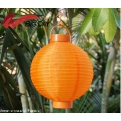 Шёлковые китайские фонарики с подсветкой (20 см)