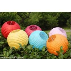 Бумажные китайские фонарики-шары (20 см)