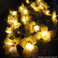 """Электрическая гирлянда """"Цветы орхидеи"""""""