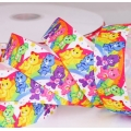 """5.406: Детская подарочная лента """"Мишки на радуге"""" (25 мм)"""