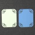 Картонные этикетки с угловым узором