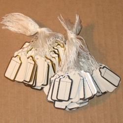 4.86: Ювелирные бирки из картона (10 или 100 шт)*