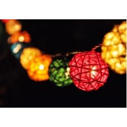 11.01: Электрическая гирлянда из шаров из ротанга