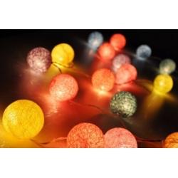 Электрическая гирлянда из шаров из хлопка
