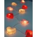 Электрическая гирлянда из фонариков-сердечек