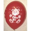 """Воздушный шарик """"Влюблённый мишка"""""""