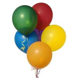 Разноцветный набор из 12 воздушных шаров