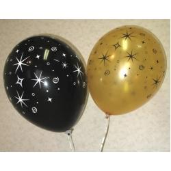 Воздушные шарики «Ночные звёзды»