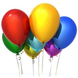 Разноцветные воздушные шары (35 см)