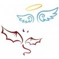 """Летающие фонарики """"Ангел и Демон"""""""