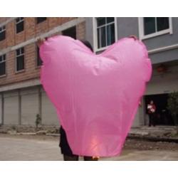 """Воздушные фонарики """"Сердечко"""" розового цвета"""