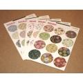 Цветные круглые стикеры (12 шт)