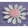Атласные цветы с клетчатой сердцевиной (42 мм)
