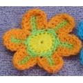 Вязаные из ниток цветы (60 мм)