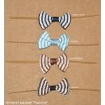 10.03: Бумажные твисты с бантиком в полоску