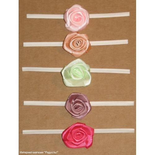 Розы из лент бумаги своими руками