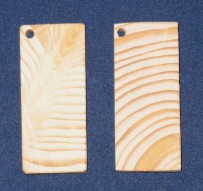 образцы бирок размера 43х19 мм, натуральная древесина