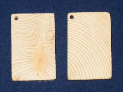 образцы бирок 43х27 мм, древесина хвойных пород