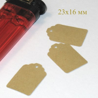 "бирки крафт из картона, 23*16 мм / интернет-магазин ""Радость!"" / фото бирок"