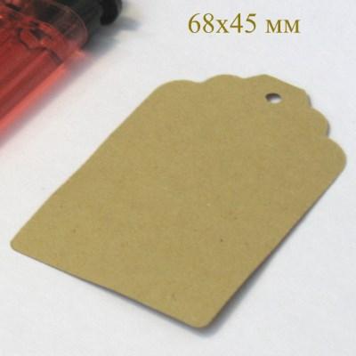 Картонные бирки пустые из крафт-картона, 68*45 мм, набор 50 шт / фото бирок