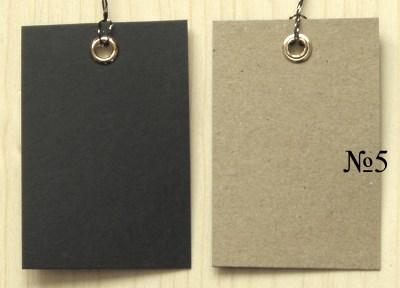 бирки 4*6 см, двуцветные крафт+чёрные / бирки крафт двухцветные