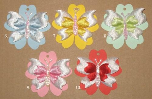 "бирки ""Бабочка"" из цветного картона"