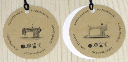 крафт-бирки для шитья из картона с надписью handmade
