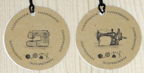 картонные бирки из картона крафт + швейная машинка + handmade