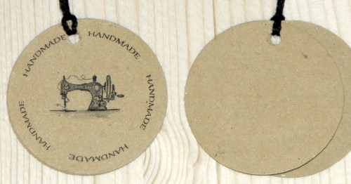 Двойные бирки для шитья HANDMADE
