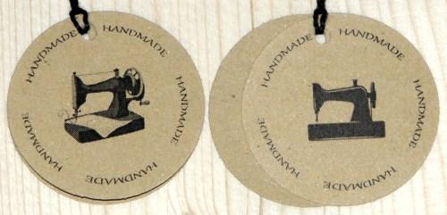 Двойные крафт-бирки для шитья HANDMADE