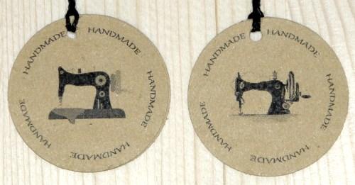 Двойные картонные крайт-бирки для шитья HANDMADE